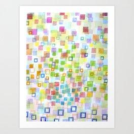 Art Print - Raining Squares and Frames - Heidi Capitaine
