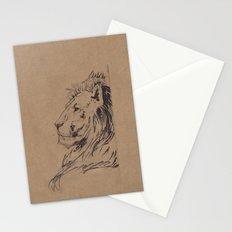 Lion Profile Stationery Cards