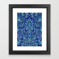 Paisley Blue Framed Art Print