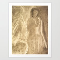 The Lady in Grey Arrives Art Print