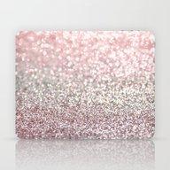 Girly Pink Snowfall Laptop & iPad Skin
