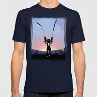 Punisher Kid Mens Fitted Tee Navy SMALL