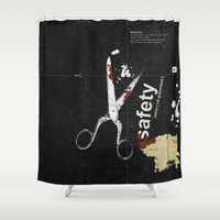 Safety [ not guaranteed ] | Collage Shower Curtain