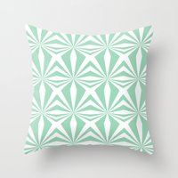 Mint Starburst #3 Throw Pillow