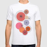 Spiral Flowers Mens Fitted Tee Ash Grey SMALL