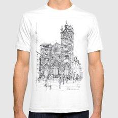 Cattedrale di Genova schizzo di studio White SMALL Mens Fitted Tee