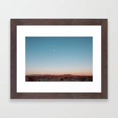 Desert Sky With Harvest … Framed Art Print