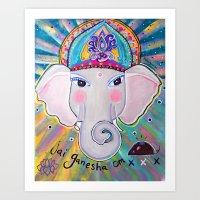 Jai Ganesha  Art Print