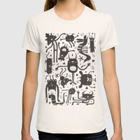 Topsy Turvy - Dark Womens Fitted Tee Natural SMALL