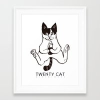 twenty cat Framed Art Print