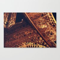 Eiffel at Night Canvas Print