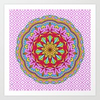 Mix&Match;  Pretty Pink … Art Print