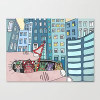Curious Creatures 5 Canvas Print