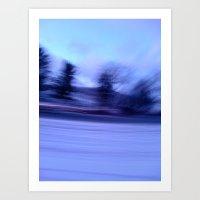 winter blur  Art Print