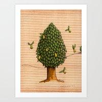 Wings On Pears Tree - Co… Art Print