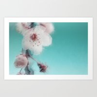 Cherry Blossom Abstract Art Print