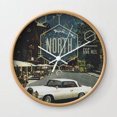 666 miles north Wall Clock