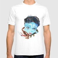 Hindu Boy Mens Fitted Tee White SMALL