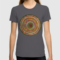 Tree Rings Womens Fitted Tee Asphalt SMALL