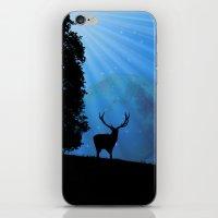 Moon & Deer - JUSTART © iPhone & iPod Skin