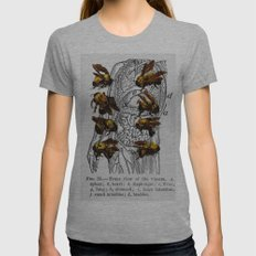 bees Womens Fitted Tee Athletic Grey SMALL