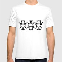Pistol Robots Mens Fitted Tee White SMALL