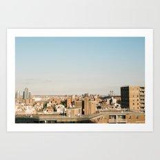 New York City Skyline from the Lower East Side Art Print