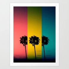 Vintage Palm Tree Art Print