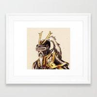 cyber samurai Framed Art Print