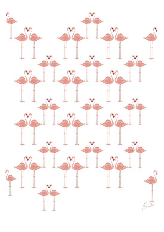 Flamingos - Tropical bird Art - Flamingo - Pink Art Print