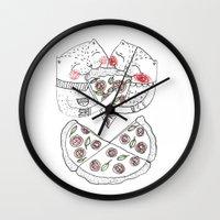 Pizza Cat Wall Clock