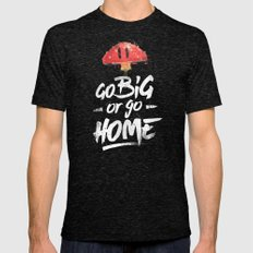 Go Big Or Go Home Mario … Mens Fitted Tee Tri-Black SMALL