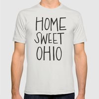 Home Sweet Ohio Mens Fitted Tee Silver SMALL