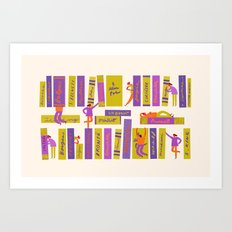 Writers and readers (1st version) Art Print