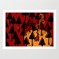 The Dancing Monster In T… Art Print
