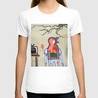 Terrestrial Fella Broadc… Womens Fitted Tee White SMALL