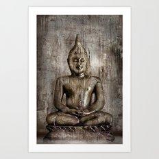 Klassischer Budda Art Print