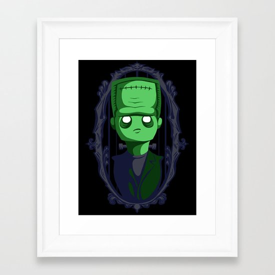 Hey Frankie! Framed Art Print