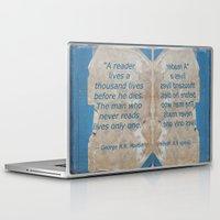 books Laptop & iPad Skins featuring Books by Dora Birgis