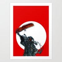 screaming chainsaw Art Print