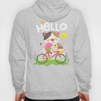 Cat on a bike Hoody
