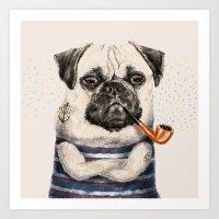 Mr.Pug Art Print