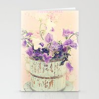 Sweet peas Stationery Cards