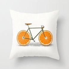 Zest (Orange Wheels) Throw Pillow
