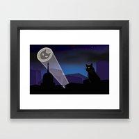 BatCat Framed Art Print