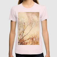 Autumnal Bliss  Womens Fitted Tee Light Pink SMALL