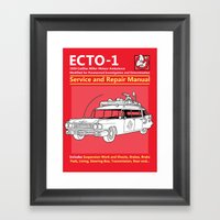 ECTO-1 Service And Repai… Framed Art Print