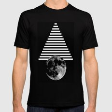 moon walk Black Mens Fitted Tee SMALL