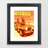 Beach Rescue Honeys - Sunrise Edition Framed Art Print
