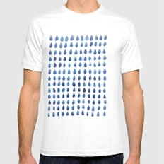 RAINDROPS Mens Fitted Tee SMALL White